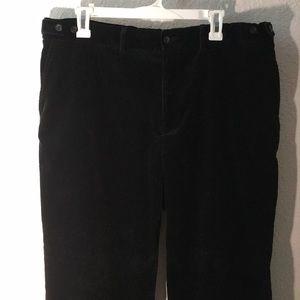 RALPH LAUREN black ribbed dress pants